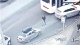 Публикуем видео выстрела водителя Porsche Cayenne в Уфе: возбуждено уголовное дело