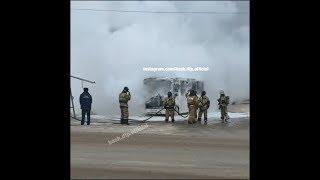 На автовокзале сгорел автобус «Башавтотранса» | Ufa1.RU