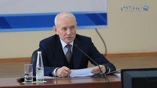 Новости от Спутник-ТВ, про визит главы Башкортостана Рустэма Хамитова в Белебей