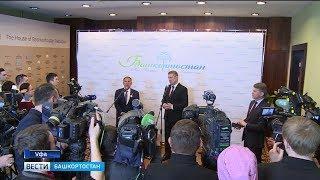 Радий Хабиров и Рустам Минниханов посетили деловой форум «Татарстан-Башкортостан»