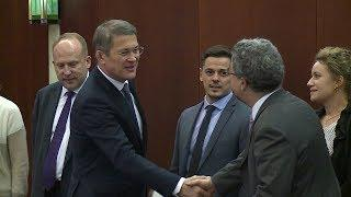 Радий Хабиров провел рабочую встречу с Послом Швейцарии в России Ивом Россье