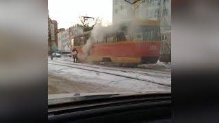 В Уфе задымился трамвай