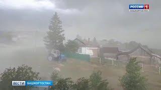Ураган в селе Базлык, Бижбулякский район, 24 июня 2019