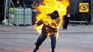 Мужчина пытался сжечь себя в центре Минска. Подробности происшествия