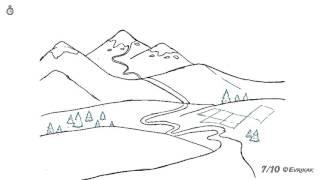Как поэтапно нарисовать горный пейзаж: инструкция от EvriKak
