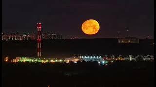 Этой ночью над Москвой была эпическая Луна.