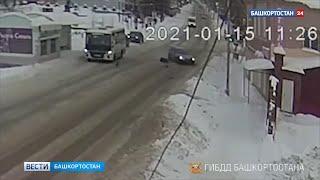 Камеры видеонаблюдения зафиксировали, как водитель иномарки сбил пенсионерку в Башкирии и скрылся