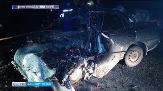 В Иглинском районе водитель «Тойоты» столкнулся с двумя грузовиками: погиб пассажир