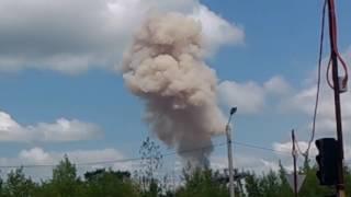 Облако дыма со стороны завода Авангард Стерлитамак (2 июля 2016)