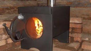 Печка Буржуйка своими руками из газового баллона.(Ссылка на ВК в описание)