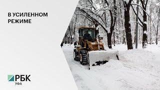 На борьбу со снегом на улицы Уфы вышли 160 единиц техники и 803 дворника