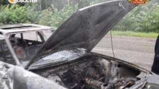 На трассе Нефтекамск- Янаул сгорел автомобиль.