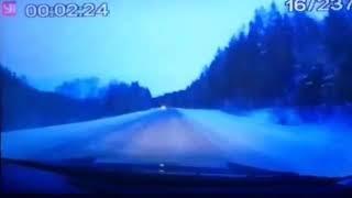 Момент смертельного ДТП в Учалинском районе на 22 км автодороги Белорецк-Учалы-Миасс