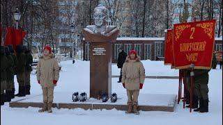 Передача штандарта «Победы» и капсулы с символом Вечного огня Янаульскому району от г. Стерлитамак