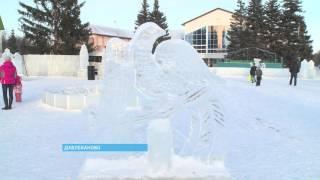 В Давлеканово открылся самый большой ледовый городок за всю историю города
