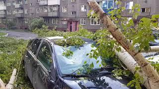 Ураган в Новокузнецке уничтожает машины. Что делать?