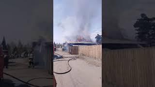Пожар горит дача сухая древесина горит как бумага мчс полиция скорая есть пострадавщий