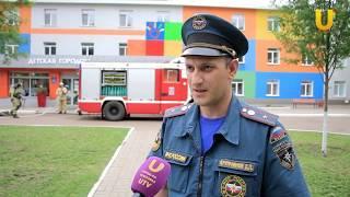 Пожарные учения в детской больнице