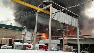 На химзаводе в Уфе произошел крупный пожар | Ufa1.RU