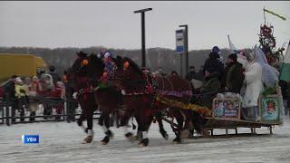 Впервые в Уфе прошёл всероссийский парад конно-санных экипажей