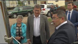 Газ для малоимущих и новые дороги: Радий Хабиров совершил рабочую поездку в Благовещенский район