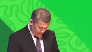 Радий Хабиров говорит на башкирском языке