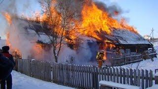 В селе Сальзигутово произошел массовый пожар