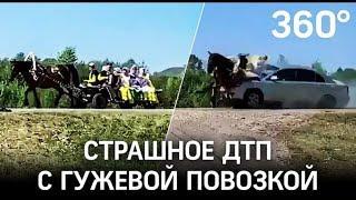 Видео: жёсткое ДТП с гужевой повозкой. Машина влетела в телегу под Уфой