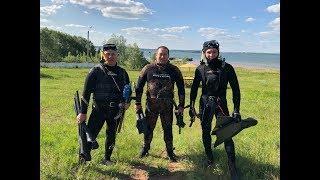 Подводная охота в Кандрыкуле 2019. В поисках трофейного сазана.Отдых на природе, часть 1