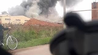 Кирпичный завод горит Республика Башкортостан город Давлеканово