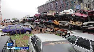 Автохлам под окнами: почему кладбище автомобилей в Уфе уже много лет не могут убрать?