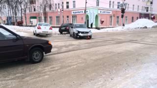 Авария Ишимбай Ленина-Советская 3 02 2014