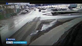 На полной скорости в столб: крупная авария в Башкирии попала на видео