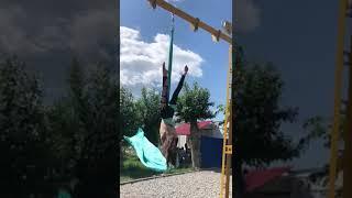 Маннапова Алина, срыв, г. Сибай, Воздушная акробатика, полотно