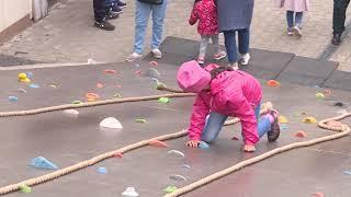 На площади перед Лайфстайл-центром «Башкирия» развернулся детский сабантуй