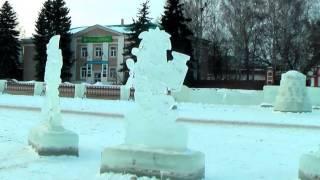 Ледяная сказка в Месягутово - районный центр Дуванского района Республики Башкортостан