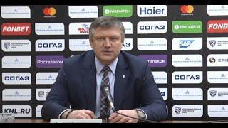 """Пресс - конференция ХК """" Нефтехимик """" - ХК """" Салават Юлаев """""""