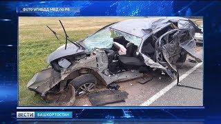 В республике в результате столкновения двух иномарок погиб водитель