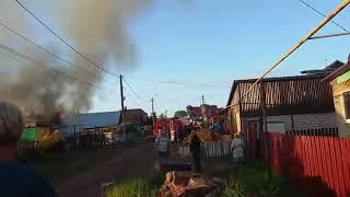 Касево горит дом г.Нефтекамск