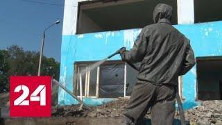 Дезинфекцией в Тулуне занимаются подразделения войск химико-биологической защиты из Алтая - Россия…