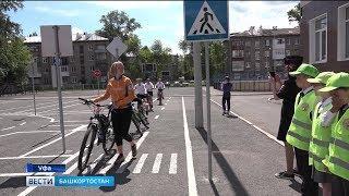 В День защиты детей сотрудники ГИБДД рассказывают школьникам о правилах безопасности на дорогах