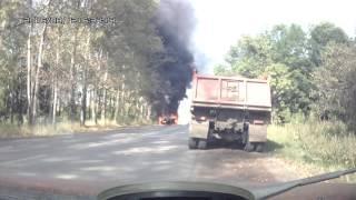Башкирия Благовещенск -Павловка горит УАЗ Патриот
