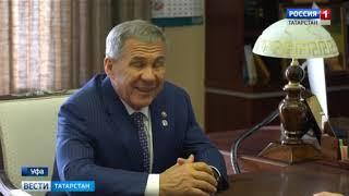 Радий Хабиров вручил Рустаму Минниханову орден Салавата Юлаева