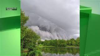 В Клинцах на минувших выходных сфотографировали  – грозовой вал