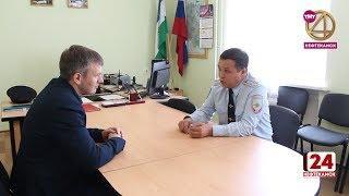 Главный госавтоинспектор Башкортостана посетил Краснокамский район