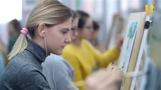 Новости UTV. В Детской художественной школе прошел II Всероссийский изобразительный диктант