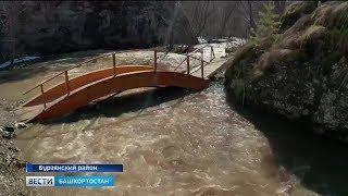 В Бурзянском районе резко поднялся уровень реки Шульган