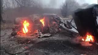 Жуткая авария близ Токмака (Видео 18+)