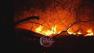 Очередной пожар в торговом центре. Центральный рынок Нефтекамск