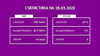 UTV. Коронавирус в Башкирии, России и мире на 18 марта 2020. Плюс опрос уфимцев